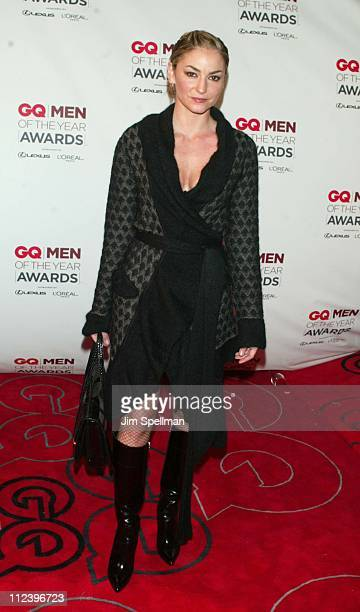 Drea de Matteo during 2002 GQ Men of the Year Awards Arrivals at Hammerstein Ballroom in New York City New York United States
