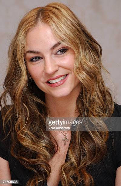 Drea de Matteo during The Sopranos 5th Season Press Conference with James Gandolfini Edie Falco Lorraine Bracco Steve Buscemi Drea De Matteo and...