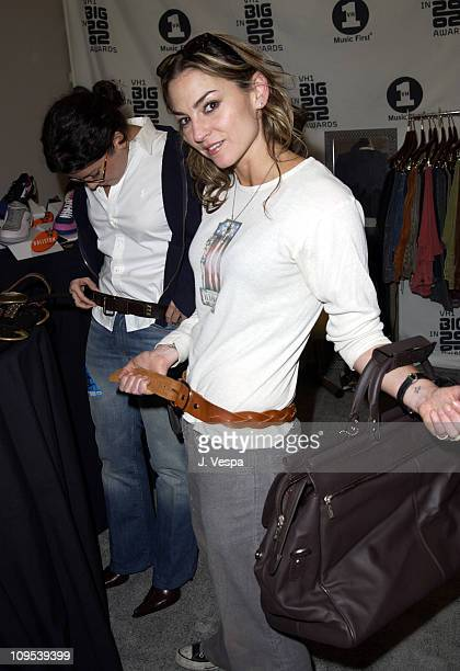 Drea de Matteo wearing a Red Monkey belt during VH1 Big in 2002 Awards Backstage Creations Talent Retreat Rehearsal Day at Olympic Coliseum in Los...
