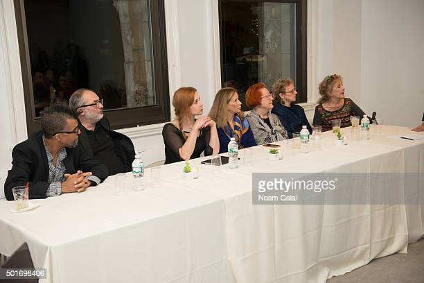 Dread Scott Maria Alyokhina Marjorie Martay Carolee Schneemann and Martha Wilson attend 2015 WhiteBox Arts and Humanities Award honoring the Pussy...