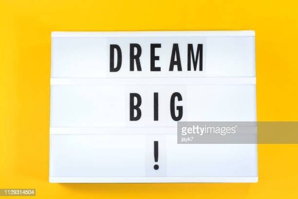 dream big - als in een droom stockfoto's en -beelden