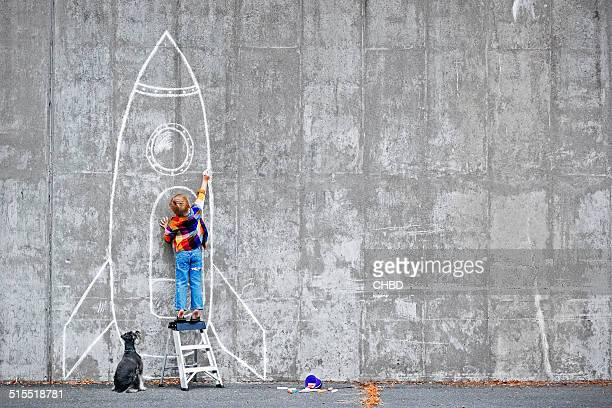dream big - spaceship stock photos and pictures