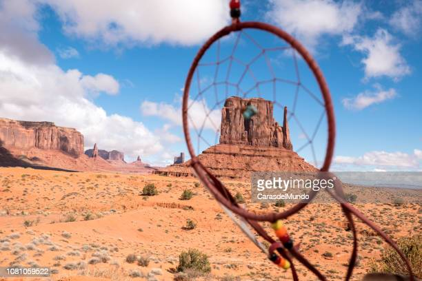 dream catcher, navajo souvenir at momument valley - monument valley tribal park stock photos and pictures