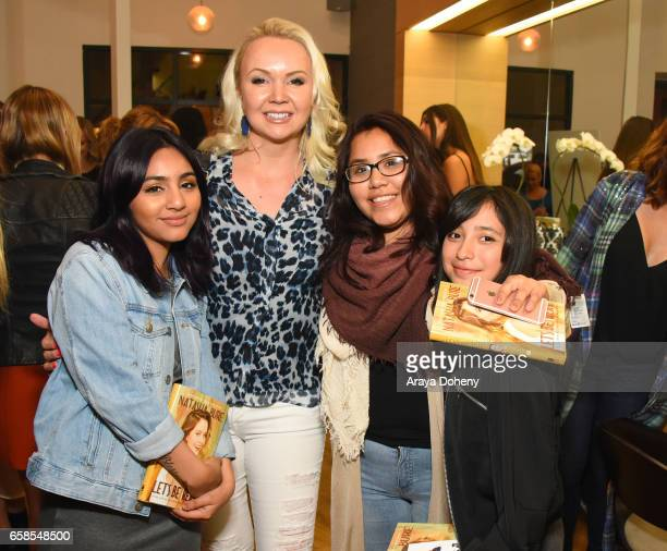 Dream Center girls attend Natasha Bure 'Let's Be Real' Los Angeles book launch party at Eden By Eden Sassoon on March 24 2017 in Los Angeles...