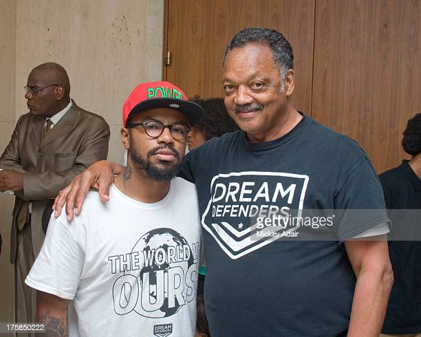 Dream Defenders Executive Director Phillip Agnew poses with Rev Jesse Jackson at the Florida Capitol