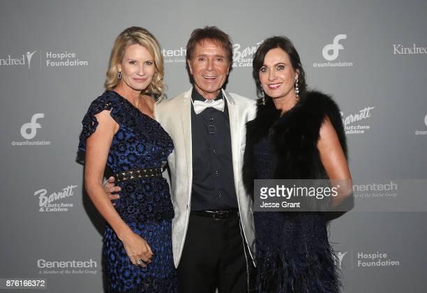 Dream Foundation CEO Kisa Heyer singer Cliff Richard and Dreamland Gala Chairwoman Daryl Stegall attend the Dream Foundation's 2017 Dreamland Gala at...