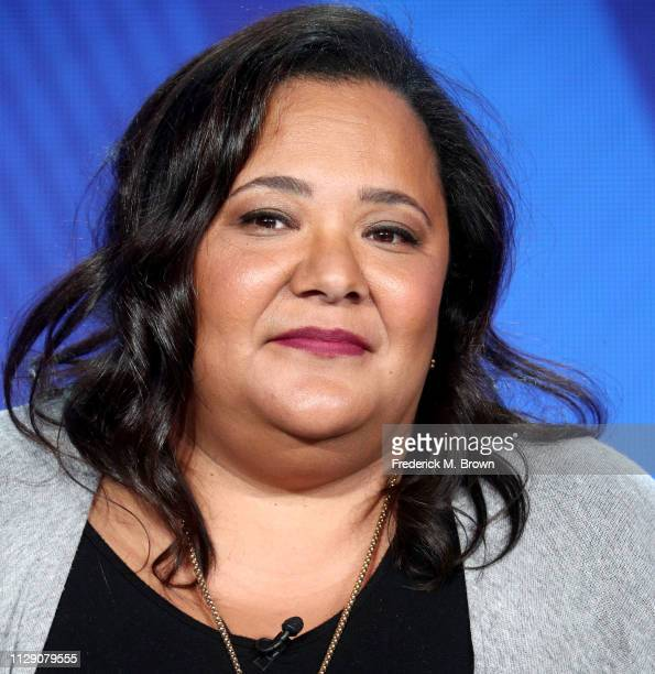 Dream Hampton of the television show Finding Justice speaks during the BET segment of the 2019 Winter Television Critics Association Press Tour at...