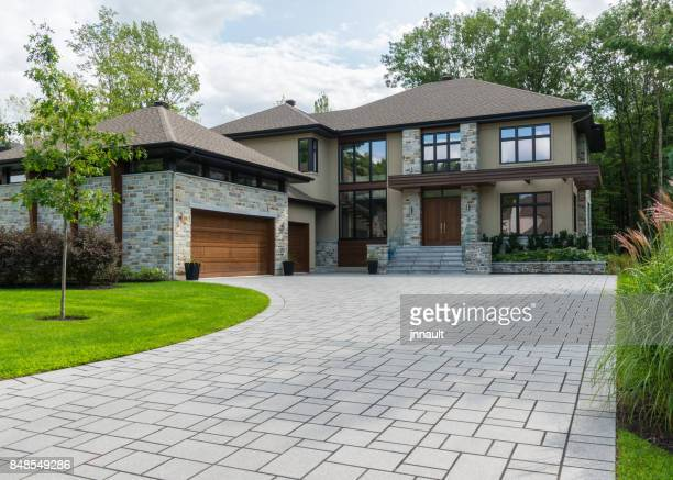 dream home, luxury house, success - landscaped stock pictures, royalty-free photos & images