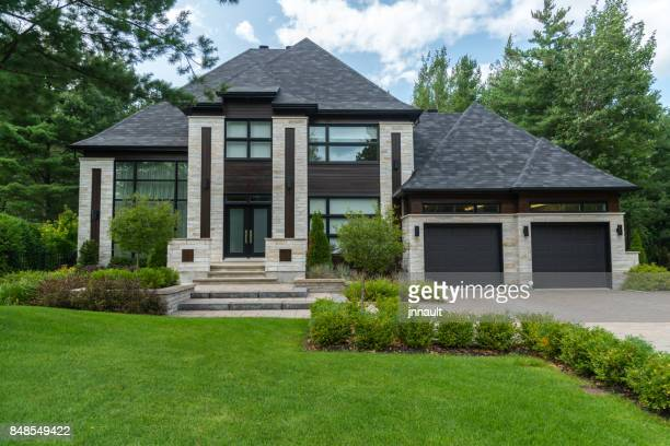dream home, luxury house, success - beautiful house stock photos and pictures