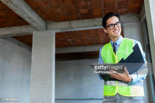 soñarlo y él lo construirá - ingeniero civil fotografías e imágenes de stock