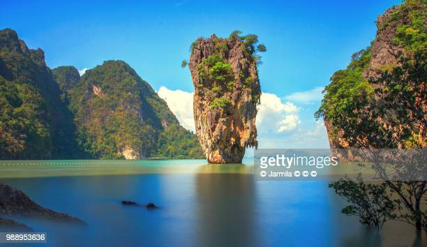 dream james bond island - liberia stock pictures, royalty-free photos & images