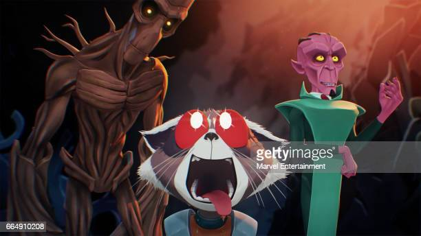 S ROCKET GROOT 'Dream Machine' Based on a design by famed comic book artist Skottie Young and animated by 2017 Oscarnominated Passion Pictures the...