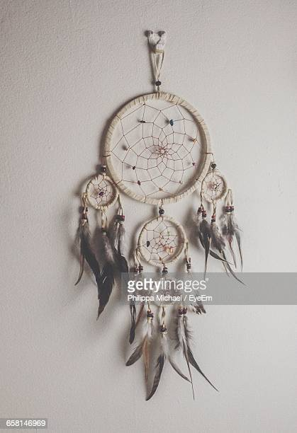 Dreamcatcher Hanging On White Wall