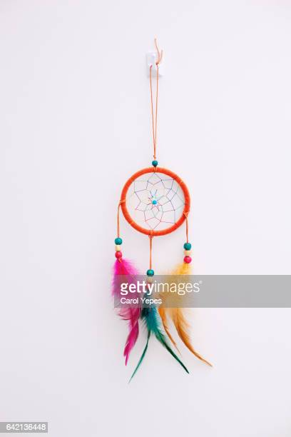 dreamcatcher in a white wall