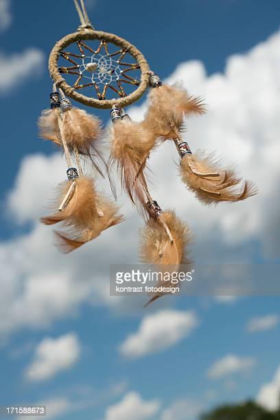 Indianischer Traumfänger winkt im wind