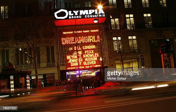 'Dreamgirls' Premiere at the Olympia on January 18 2007 in Paris France