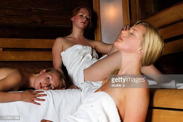 dreaming away in sauna