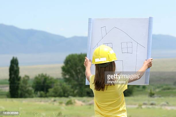 dreaming big - model home stock pictures, royalty-free photos & images