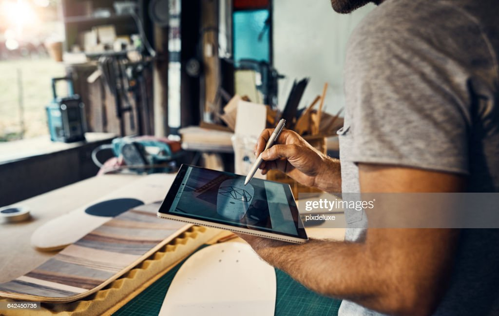 Dreaming up an epic design : Stock Photo