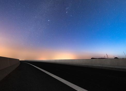Dreamlike Stars way before morning sunrise - gettyimageskorea