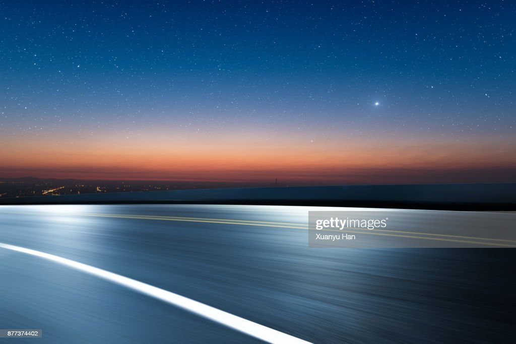 Dreamlike Stars way before morning sunrise,Auto advertising background : Foto de stock