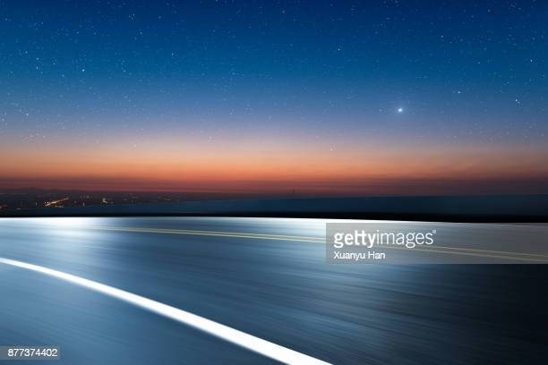 Dreamlike Stars way before morning sunrise,Auto advertising background