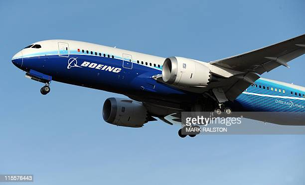 Dreamliner passenger jet is tested above the Boeing factory at Paine Field in Everett Washington state on March 20 2011 Boeing said recently that the...