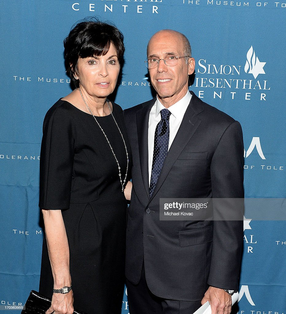 Dreamworks Animation CEO Jeffrey Katzenberg (R) and wife Marilyn Katzenberg arrive at the Simon Wiesenthal Center National Tribute Dinner at Regent Beverly Wilshire Hotel on June 11, 2013 in Beverly Hills, California.