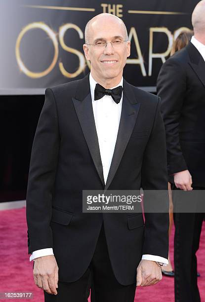 DreamWorks Animation CEO Jeffrey Katzenberg arrives at the Oscars at Hollywood Highland Center on February 24 2013 in Hollywood California