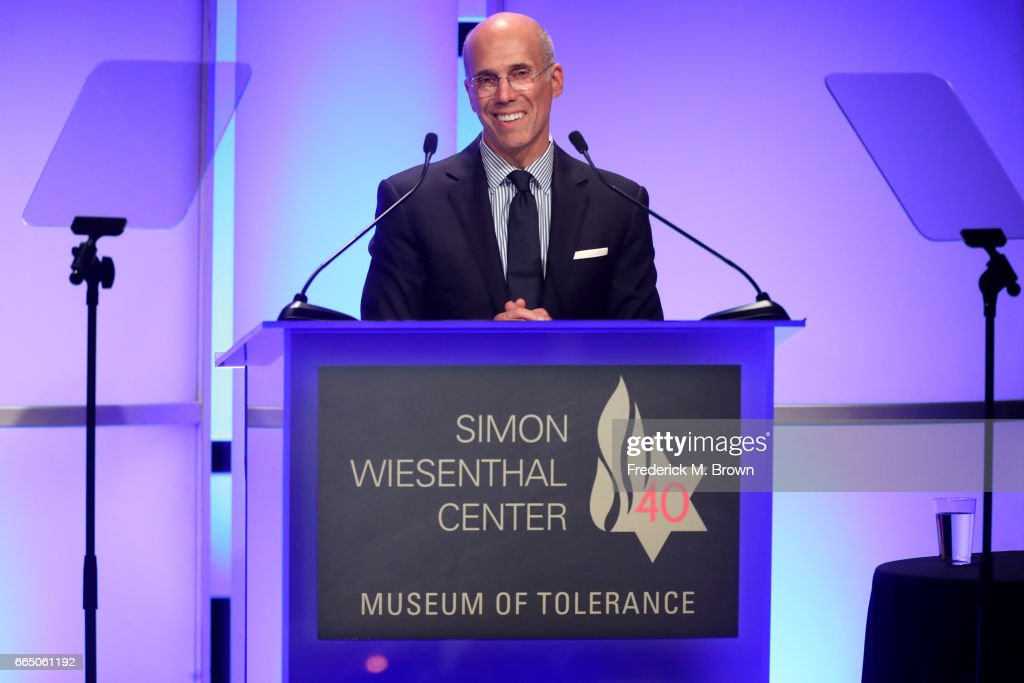 DreamWorks Animation CEO Jeffrey Katzenberg attends The Simon Wiesenthal Center's 2017 National Tribute Dinner at The Beverly Hilton Hotel on April 5, 2017 in Beverly Hills, California.