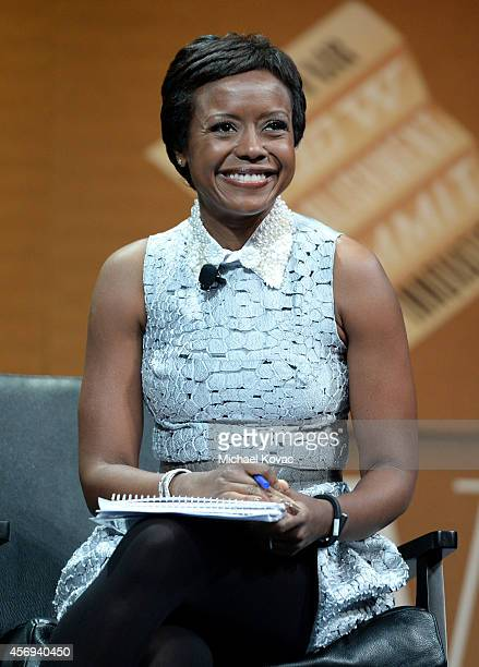 """DreamWorks Animation Chairman, Ariel Investments and Moderator Mellody Hobson speaks onstage during """"Who Owns Your Screen?"""" at the Vanity Fair New..."""