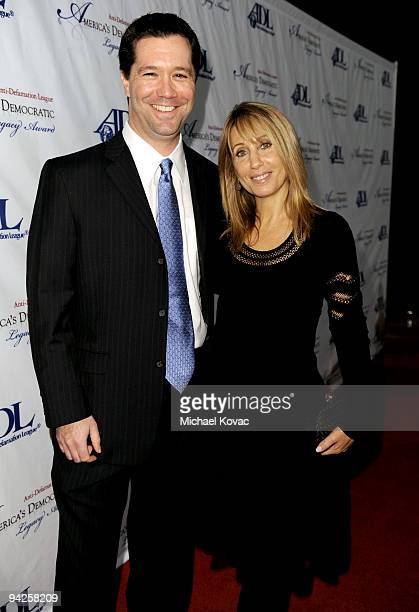 DreamWorks Animation Chief Operating Officer Jeff Small and DreamWorks Animation Chief Executive Stacey Snider arrive at the ADL Los Angeles Dinner...