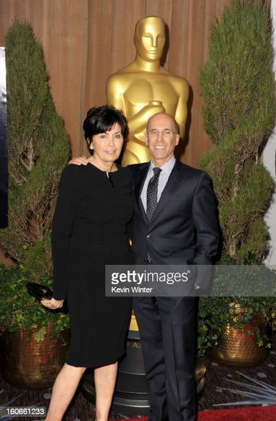 DreamWorks Animation Jeffrey Katzenberg and Marilyn Katzenberg attend the 85th Academy Awards Nominations Luncheon at The Beverly Hilton Hotel on...