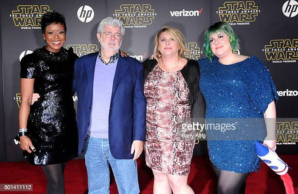 DreamWorks Animation SKG Chairman of the Board of Directors and President of Ariel Investments Mellody Hobson filmmaker George Lucas and his...