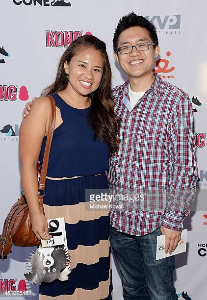 Dreamworks Animation's Daniel Chun enjoys the 'More Than a Cone' art auction and campaign launch benefiting Best Friends Animal Society in Los...