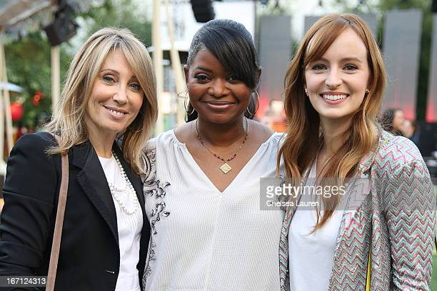 Dreamworks CEO Stacey Snider actress Octavia Spencer and actress Ahna O'Reilly attend City Year Los Angeles' spring break destination education at...