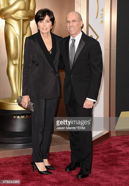 Dreamworks Chief Executive Officer and Director Jeffrey Katzenberg and Marilyn Katzenberg attend the Oscars held at Hollywood Highland Center on...