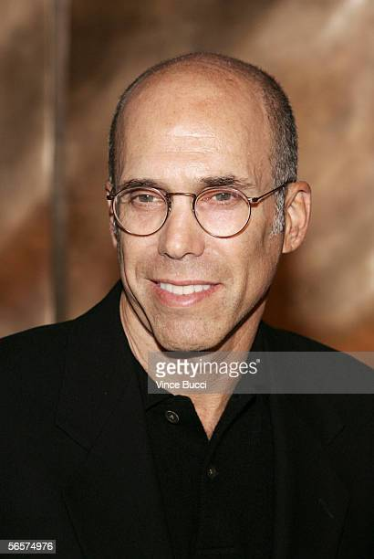 Dreamworks' cofounder Jeffrey Katzenberg attends the opening of fine jeweler Harry Winston's flagship store on Rodeo Drive on January 11 2006 in...