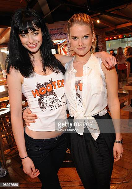"DreamWorks Pictures ""She's Out Of My League"" co-stars, Krysten Ritter and Alice Eve become ""Honorary Hooters Girls"" at Hooters on February 23, 2010..."