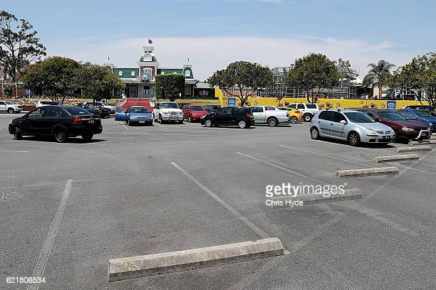 Dreamworld carpark on November 9 2016 in Gold Coast Australia The Gold Coast theme park has been closed since four people were killed in an accident...