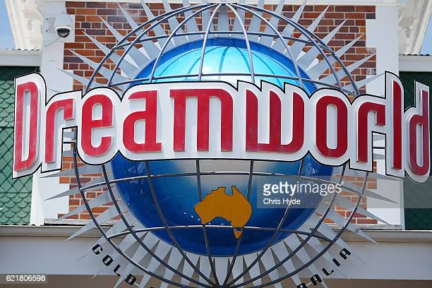 Dreamworld sign at the front entry on November 9 2016 in Gold Coast Australia The Gold Coast theme park has been closed since four people were killed...