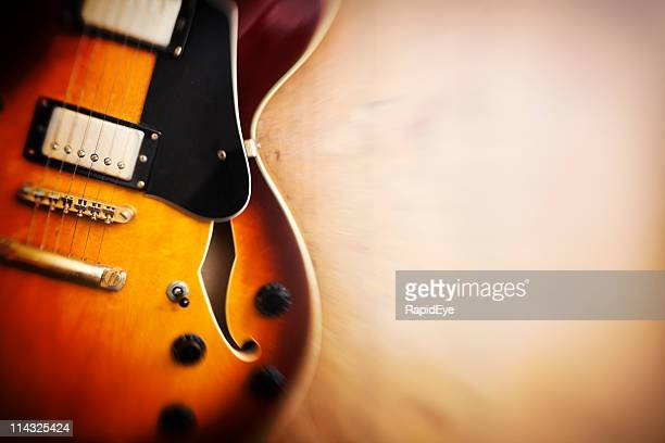 dreamy jazz blues guitar on wood - stringed instrument stock pictures, royalty-free photos & images