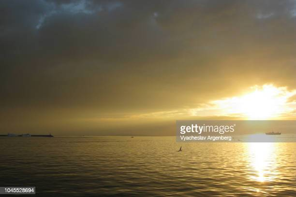 dreamy sunset in manila bay, philippines - argenberg stock pictures, royalty-free photos & images