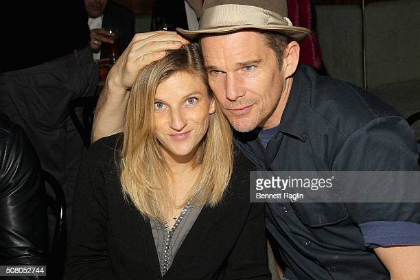 DreamYard board member Ryan Hawke and actor Ethan Hawke attend the BronxWide Poetry Slam Finals And Event hosted by DreamYard Project at Joe's Pub on...