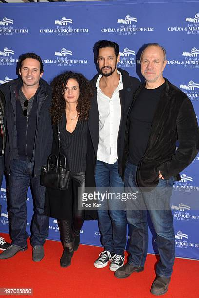 Drector Jeremy Banster actors Barbara Cabrita Stany Coppet and Aurelien Recoing attend the La Vie Pure Premiere during day 3 of the 'Festival du...