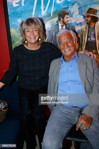 Drector of the movie Daniele Thompson and actor JeanPaul Belmondo attend the 'Cezanne et Moi' Premiere on September 5 2016 in Paris France