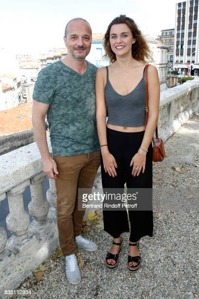 Drector of the short film 'La Station' Patrick Ridremont and actress Margot Luciarte attend the 10th Angouleme FrenchSpeaking Film Festival Day Two...