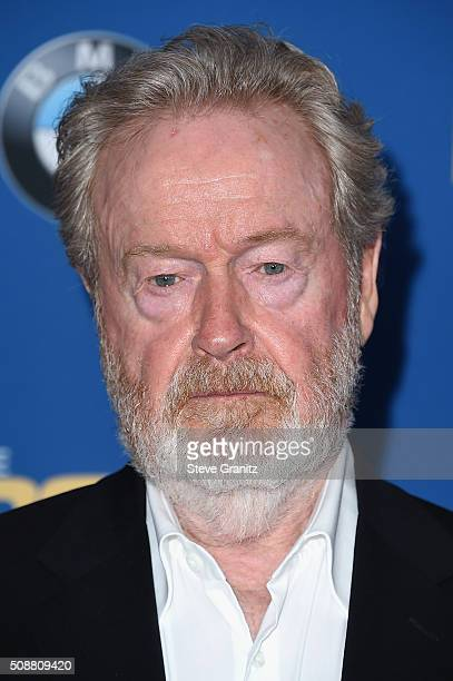 Drector Ridley Scott attends the 68th Annual Directors Guild Of America Awards at the Hyatt Regency Century Plaza on February 6 2016 in Los Angeles...