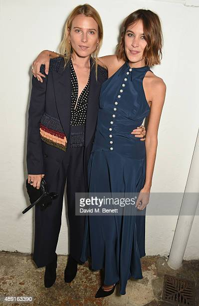 Dree Hemingway and Alexa Chung attend a private dinner hosted by Matchesfashion.com to celebrate the launch of Hillier Bartley with designers Katie...