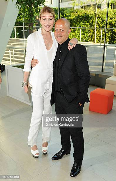 Dree Hemingway and designer Italo Zucchelli attend the 2010 CFDA Fashion Awards at Alice Tully Hall Lincoln Center on June 7 2010 in New York City